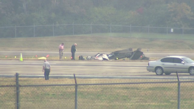 Plane crashes at airport; no one notices
