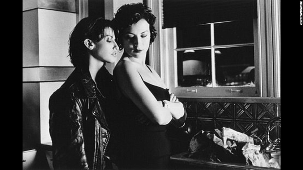 "Gina Gershon, left, and Jennifer Tilly play lovers in ""Bound."""