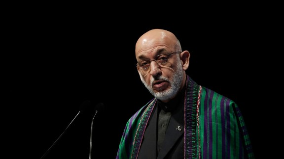 Afghan President Hamid KarzaI at the 9th World Islamic Economic Forum on October 29, 2013 in London, England.