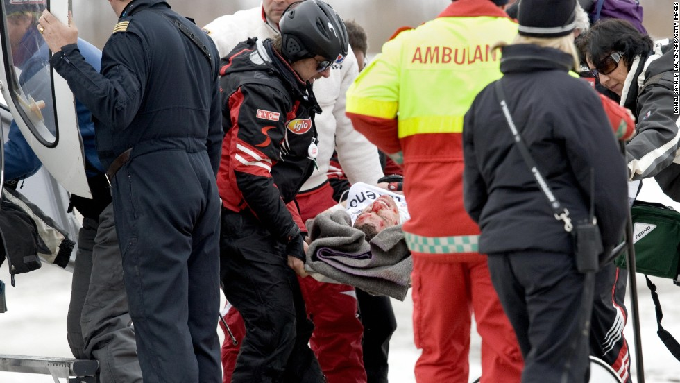 The crash saw him taken to hospital where after a series of operations resulted in his leg being amputated, with doctors worried not doing so would result in death.