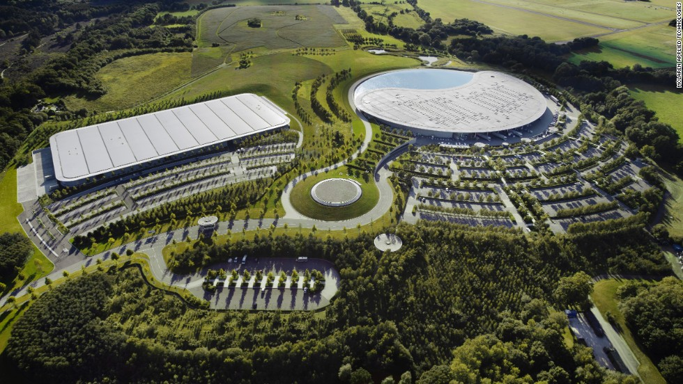 The McLaren Technology Center in Woking, England, is home to not only the company's Formula One aspirations but also to a wing of its applied technologies venture MAT.