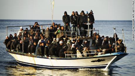 Thousands of immigrants risk their lives trying to reach the Italian island of Lampedusa in rickety, overloaded boats.