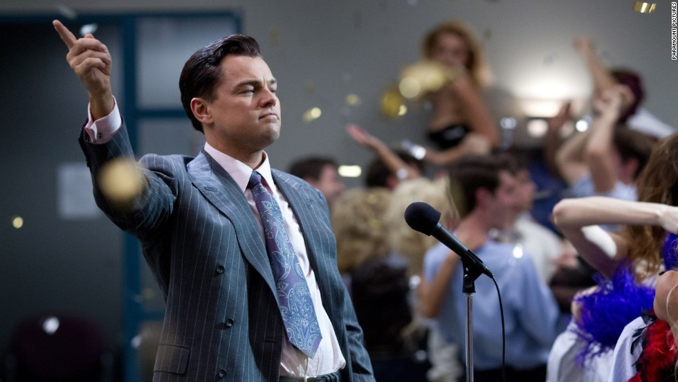 "<strong>Best actor nominees:</strong> Leonardo DiCaprio in ""The Wolf of Wall Street"" (pictured), Christian Bale in ""American Hustle,"" Bruce Dern in ""Nebraska,"" Chiwetel Ejiofor in ""12 Years a Slave"" and Matthew McConaughey in ""Dallas Buyers Club"""