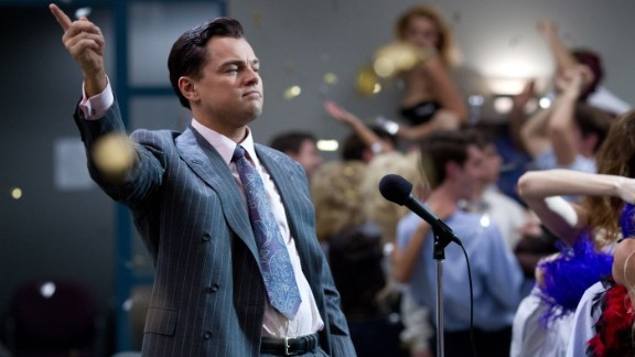 "Best actor nominees: Leonardo DiCaprio in ""The Wolf of Wall Street"" (pictured), Christian Bale in ""American Hustle,"" Bruce Dern in ""Nebraska,"" Chiwetel Ejiofor in ""12 Years a Slave"" and Matthew McConaughey in ""Dallas Buyers Club"""