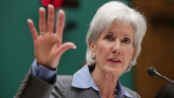 Kathleen Sebelius testifies as HHS Secretary before the House Energy and Commerce Committee in 2013.