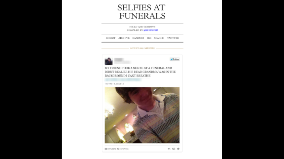 The Selfies at Funerals page on Tumblr has sparked some backlash.