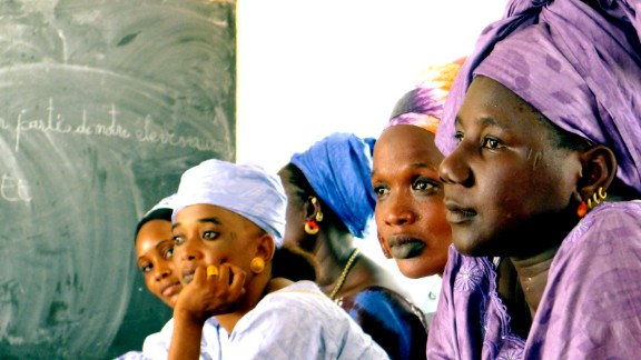 Participants in a January 2012 session of Tostan's Community Empowerment program in Younoferé, Senegal.