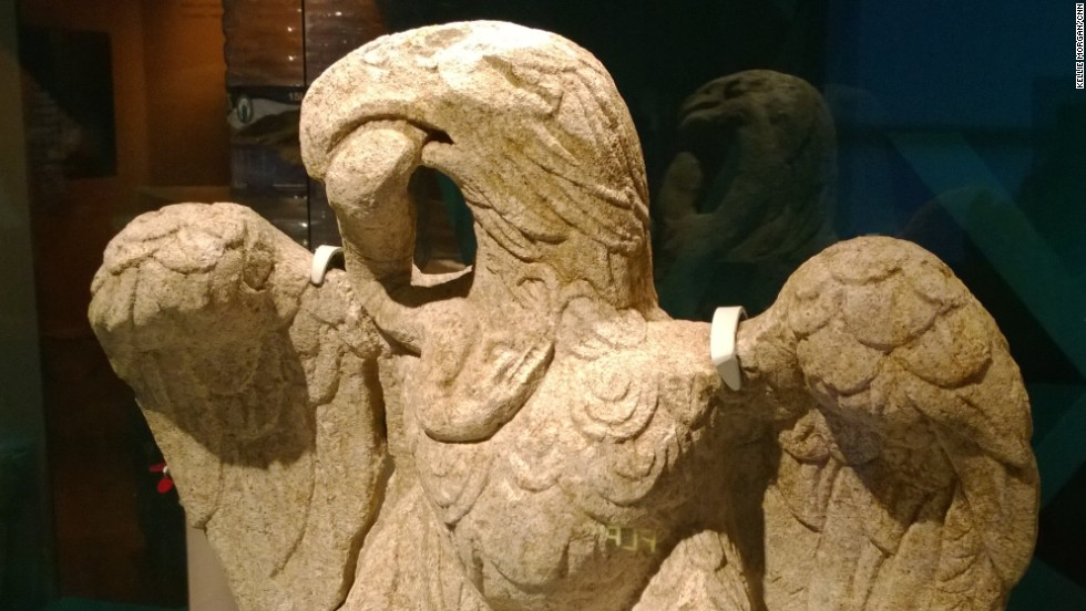 Archaeologists discovered the Roman sculpture of an eagle at site in the City of London which was being developed into a hotel.