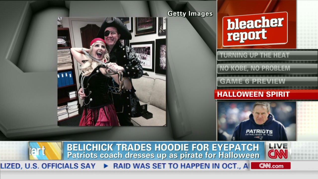 Bill Belichick dresses as a pirate