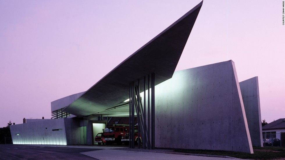 "Hadid's first completed building was the Vitra Fire Station in Weil am Rhein in 1993. She recently returned for 20th anniversary celebrations. ""When I go back, buildings look very different -- they're either smaller or not as you expect them,"" she said."
