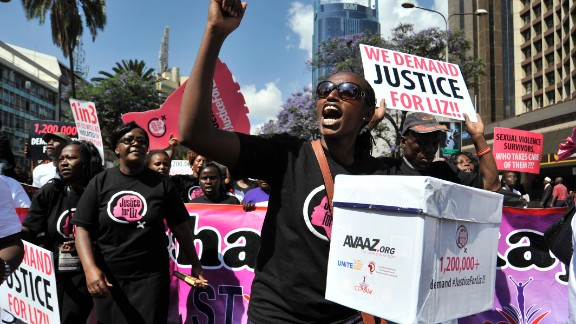 Kenyans marched through Nairobi on Thursday, October 31, to demand justice for a teen who was allegedly gang-raped, and the suspects ordered to cut grass as punishment.