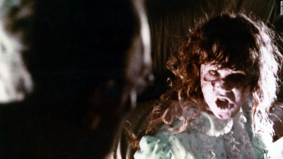 "The best-selling novel ""The Exorcist,"" about a possessed child, became the hugely successful 1973 film ""The Exorcist,"" starring Linda Blair. The film, directed by the William Friedkin and starring such notable actors as Ellen Burstyn and Max von Sydow, earned 10 Oscar nominations -- acclaim rare for a horror film."