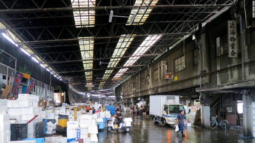 At Tsukiji, Tokyo's central fish market, nearly 3,000 tons of the world's best seafood arrives every day.