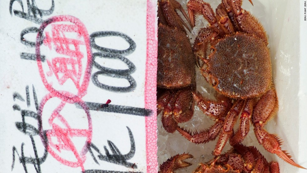 Crabs are often sold live.