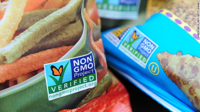 Labels show that snack foods don't contain GMOs. Washington state voters appear to have rejected labeling on GMO foods.