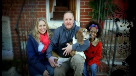 The Watkins family, from left: Kristen, Duane and Chaltu. The family dog, Babs, has passed away since this photo was taken.