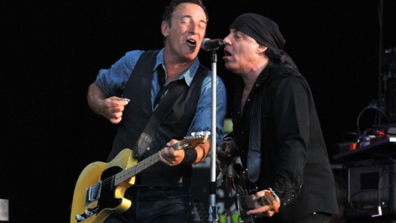 Bruce Springsteen and the E Street Band will play in South Africa for the first time since Steven Van Zandt, right, founded a group to protest apartheid in the country in 1985.