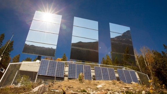 The result is that up to 600 square meters of sunlight now hit the town.