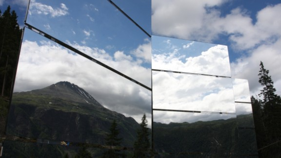 ... of these mirrors. A combined reflective surface of 50 square meters now beams sunlight into the town.