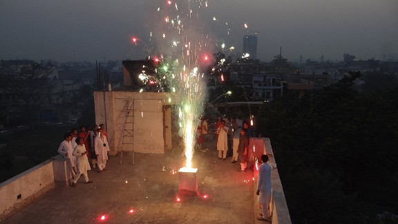 """Last year Devender Kumar and his colleagues decided to celebrate Diwali on the rooftop of their office building in Uttar Pradesh, India. """"This year I will celebrate Diwali with my family and friends, starting with puja (a religious ritual), and lighting lamps all around as Diwali is festivals of lights,"""" said the 28-year-old."""