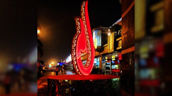 "Malliqa Luthra decided to take this photo of a giant Diya symbol in her hometown of New Delhi, India. ""I took it at Select Citywalk, a mall in New Delhi which was decorated beautifully for the festival season. The Diya is a symbol of light and thus prosperity during this auspicious festival of Diwal in India,"" said the 26-year-old."