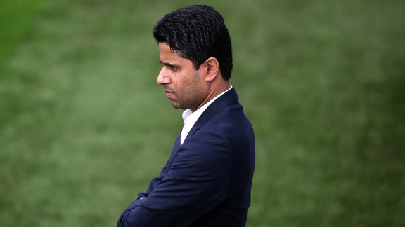 Nasser Al-Khelaifi is the President of Paris Saint-Germain, a club which is owned by QSI -- Qatari Sports Investment,  a firm linked to the Qatari government. PSG has won the French title in 2013 and 2014. It reached the quarterfinals of this year's Champions League.