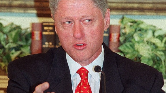 'I did not have sexual relations with that woman, Miss Lewinsky...'