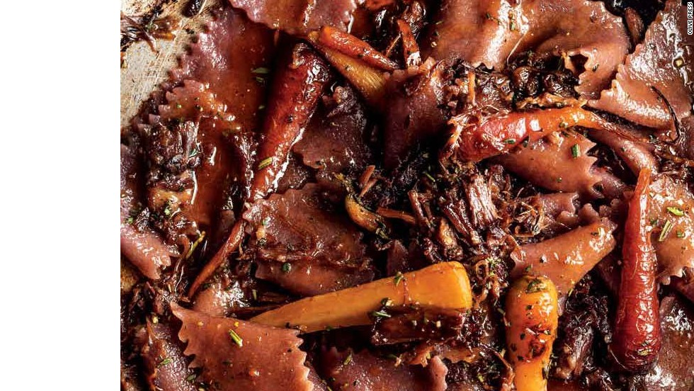 "Red Wine Pappardelle with Oxtails & Carrots -- <a href=""http://eatocracy.cnn.com/2013/11/05/55-classic-pasta-shapes-to-master/"">Get the recipe </a>"