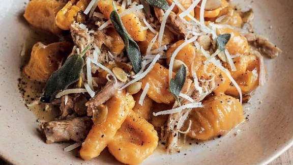 Pumpkin Malfatti, Duck Confit & Sage -- Get the recipe