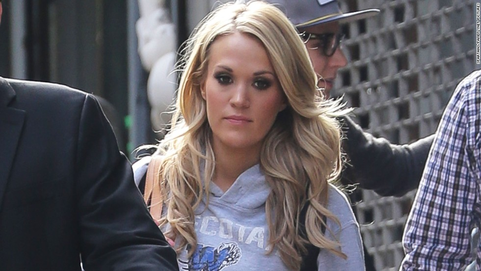 Carrie Underwood leaves a gymnastics class in New York City on November 1.