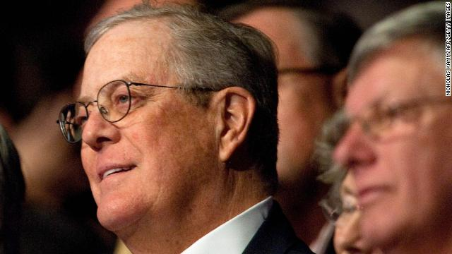 David Koch is pro-choice, supports gay rights; just not Democrats