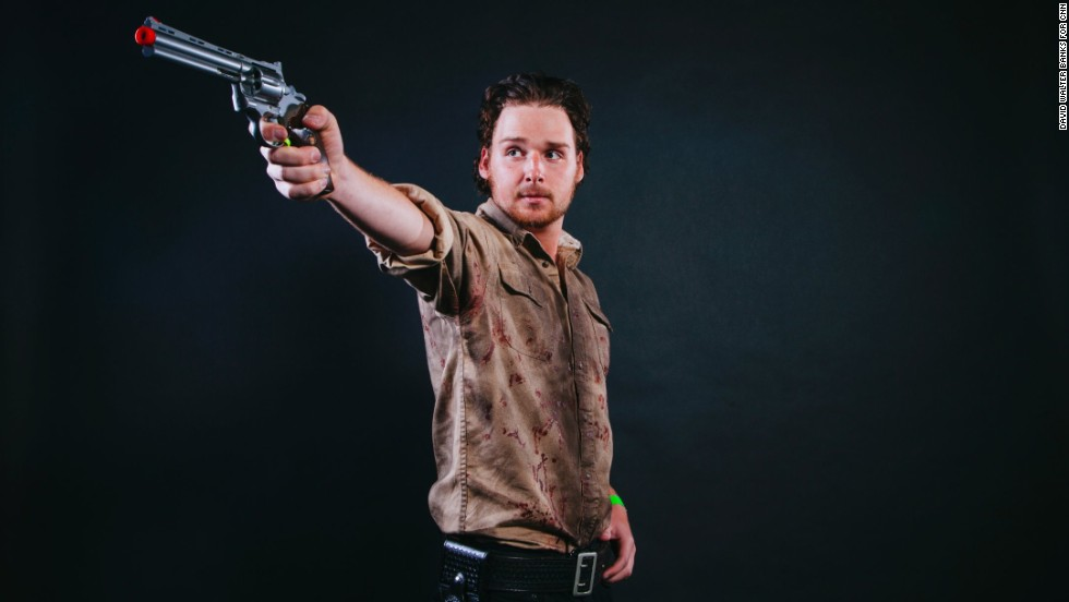 Jordan Nash, from Ohio, dressed as Rick Grimes.
