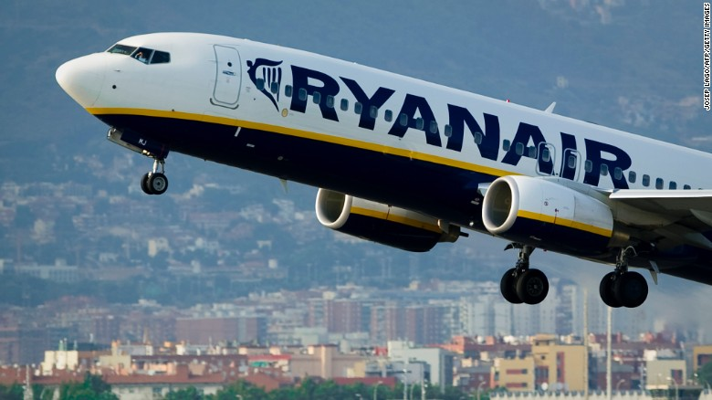 Irish airline Ryanair had to deal with a rowdy bachelor party on a flight  from the