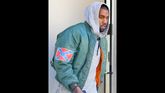 "Almost everything that Kanye West says can be met with a debate, and that includes his comment in November 2013 about his use of the Confederate flag on some of his new merchandise. The rapper told Los Angeles radio station 97.1 AMP that observers can ""react how you want. Any energy is good energy. You know the Confederate flag represented slavery in a way -- that's my abstract take on what I know about it. So I made the song 'New Slaves.' So I took the Confederate flag and made it my flag. It's my flag. Now what are you going to do?"""