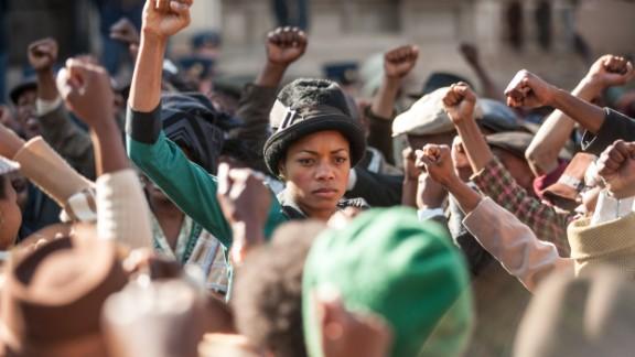 British actress Naomie Harris stars in the movie as Mandela's second wife, Winnie.