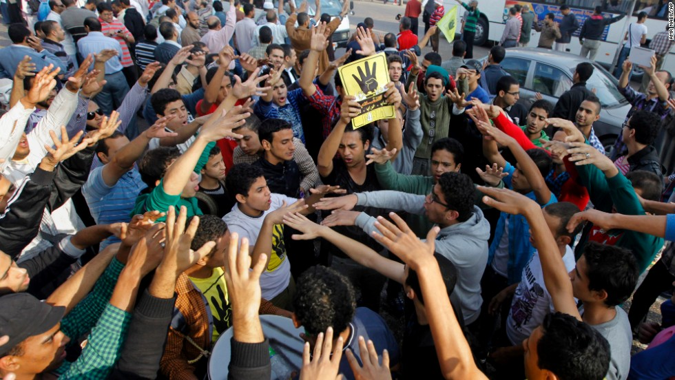 Protesters also chanted against Egypt's interim government.