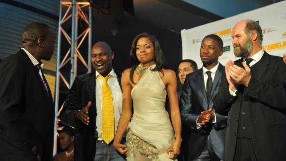 """Harris, who recently starred in """"Skyfall,"""" also attended the Johannesburg premiere Sunday."""