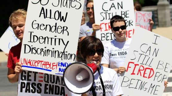 Members of GetEQUAL, a lesbian, gay, bisexual and transgender organization, stage a protest on Capitol Hill May 20, 2010 in Washington, DC.