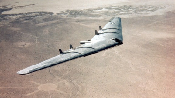 """The Northrop YB-49 was not considered stealth aircraft, but its """"strategic bomber"""" design set the foundation for the B-2 Spirit, a future stealth bomber."""