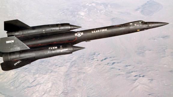 The Lockheed YF-12 flies a test mission near Edwards Air Force Base in California.