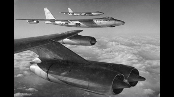 """In the 1950s, aircraft like these RB-47s conducted surveillance missions over the Soviet Union and other """"denied areas,"""" but they became increasingly vulnerable to enemy defenses."""