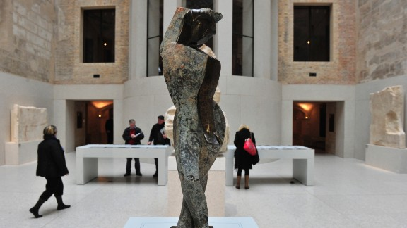 """German artist Marg Moll's sculpture """"Female Dancer"""" was discovered during archaeological excavations near Berlin's town hall in 2010. At first believed to be ancient works, the sculptures were found to have toured Germany as part of the Nazi-sponsored 1937 exhibition of """"Degenerate Art."""""""
