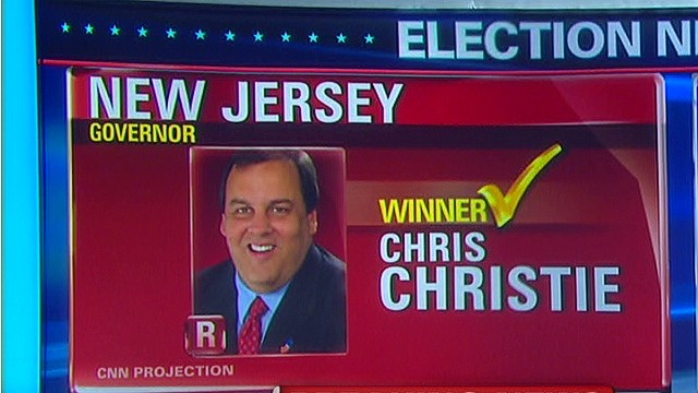 Christie wins New Jersey governor's race