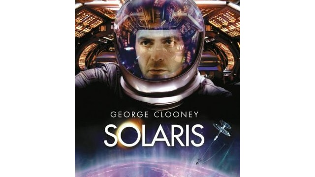 "George Clooney starred in ""Solaris"" a 2002 film version of Lem's novel."