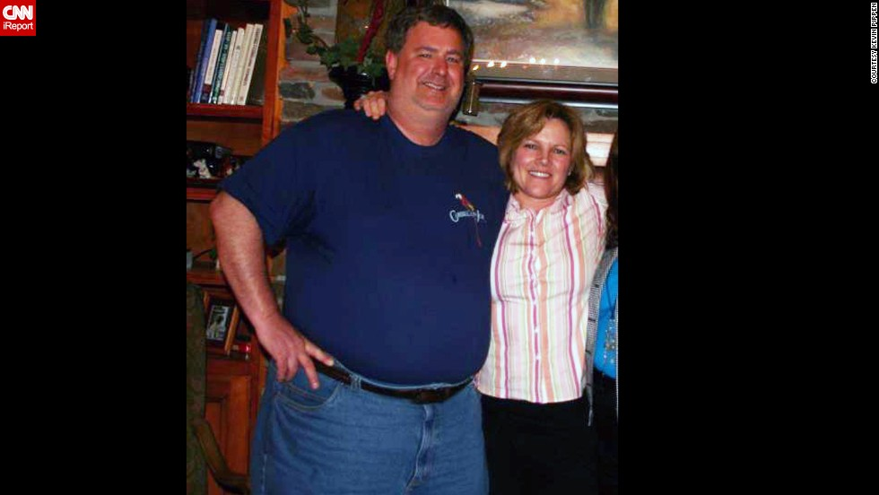 """It makes me sweat just looking at myself,"" Kevin Pippen says of this photo taken in May 2007. By July 2011, he weighed 370 pounds. His wife, Susan, wasn't significantly overweight at the time, but noticed she had a bit of a ""muffin top."""