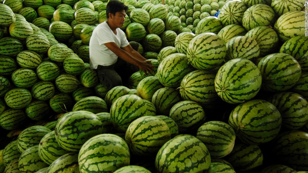 "<strong>Watermelon</strong><br />Water content: 91.5%<br /><br />It's fairly obvious that watermelon is full of, well, water, but this juicy melon is also among the richest sources of lycopene, a cancer-fighting antioxidant found in red fruits and vegetables. In fact, watermelon contains more lycopene than raw tomatoes: about 12 milligrams per wedge, versus 3 milligrams per medium tomato.<br /> <br />Although this melon is plenty hydrating on its own, Gans loves to mix it with water in the summertime. ""Keep a water pitcher in the fridge with watermelon cubes in the bottom,"" she says. ""It's really refreshing and a great incentive to drink more water overall.""<br />"