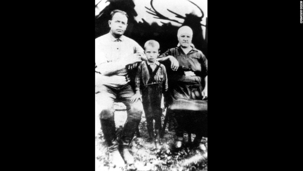 A 4-year-old Gorbachev in Privolnoe, Ukraine, circa 1935.