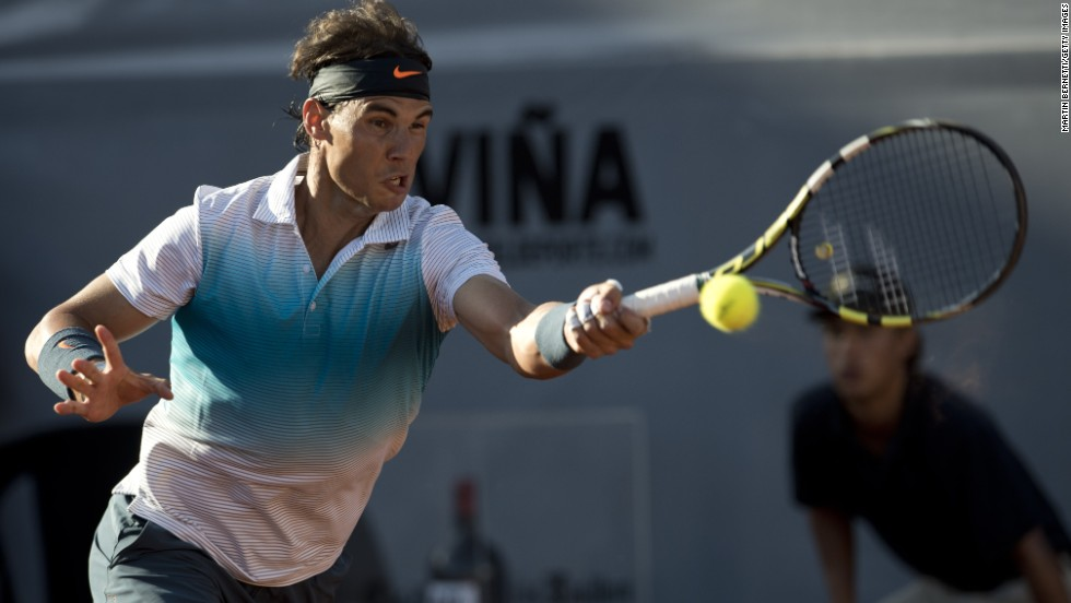 In the distant setting of Chile, Nadal returned to action in the doubles event at the ATP Vina del Mar on February 5 2013 after 222 days away. He duly reached the final of the singles, only to lose to little-known Argentinian Horacio Zeballos.