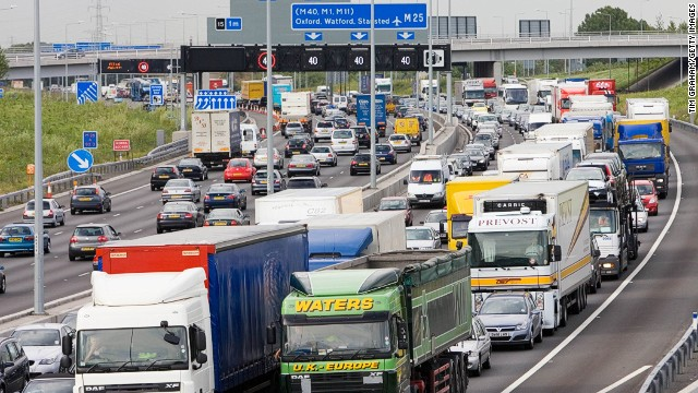 The M25 motorway, on which the incident occurred.