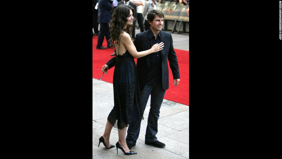 "Tom Cruise had just arrived with Katie Holmes to the London premiere of his movie ""War of the Worlds"" in 2005 when he <a href=""http://www.youtube.com/watch?v=9C4UvvHMoZs"" target=""_blank"">was pranked with a microphone that squirted water.</a> ""Why would you do that?"" Cruise berated the prankster."